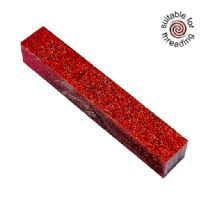 Kirinite Red Stardust Glitter pen blank